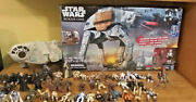 Huge Star Wars Lot 45+ Figures Rogue One At-act Walker Millenium Falcon 2001