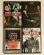 Tom Cruise Movie Dvd Bundle M1111 Valkyrie Collateral Born On The 4 Of July