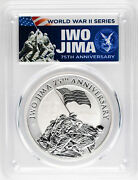 2020 Iwo Jima 75th Anniversary 1oz Silver Coin Pcgs Ms70 First Day Of Issue.