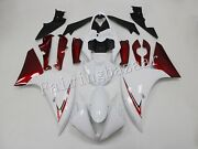 Fit For 2012-2014 Yzf R1 Pearl White Candy Red Abs Plastic Injection Fairing Kit