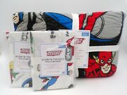 Pottery Barn Kids Dc Justice League Superman Quilt Full Queen 2 Pillowcases 321k