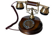 Opis 1921 Cable- Antique Style Telephone With Wood And Metal Body And Metal Bell