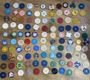 Casino Chip Collection - Lot Of 110 - Paulson Hhr Illegal Casinos And More