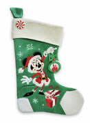 Lot 2 Disney Minnie And Mickey Mouse Christmas Stocking Holiday Red Velour 2020