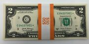 ⭐2 Uncirculated Two Dollar Bill Star Notes 2017a Philadelphia-lot Of 25 Notes⭐