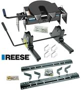 Reese 16k 5th Fifth Wheel Trailer Hitch Rail Kit Slider For 07-21 Toyota Tundra