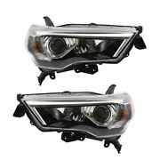 For 14-19 Toyota 4runner Set Combination Headlamps Left + Right Headlight Units