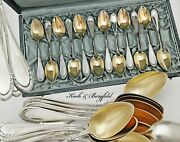 Boxed German .800 Solid Silver And Vermeil Coffee Spoons - Koch And Bergfeld