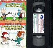 Snoopy Double Feature Play It Again Charlie Brown / She's A Good Skate Vhs Oop