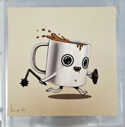 Flail And Buckler Coffee Mike Mitchell Poster Food Dudes 87/200