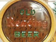 Old Reading Beer Reading Pa. Berks Reverse Painted Glass Front Barrel End Light