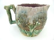 Etruscan Majolica 'shell And Seaweed' Pitcher, Griffen, Smith And Hill, 5.75 Tall
