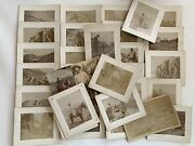 Antique Cabinet Card 32 Photograph Lot Gold Mining Town Ouray, Co Id Weiner