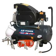 24l Direct Air Compressor 230v Welded Reciever Tank With Air Accessory Kit