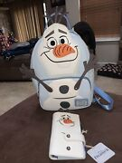New Loungefly Disney Frozen Olaf Mini Backpack Bag And Wallet