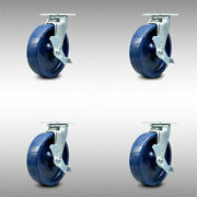 Ss Solid Poly Swvl Caster W/bb Set 4 W/8 Wheel- 4 Swvl W/side Lock Brk And Bsl