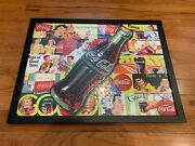 Coca Cola Puzzle - Framed 22x29 Outside Dimensions