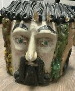 Vintage Mexican Mask Carved And Painted Wood Guerrero Mexico Four Face Helmet Mask