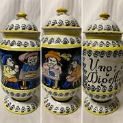 Early Antique Hand Painted Pottery Apothecary Medicine Jar Occupational Figural