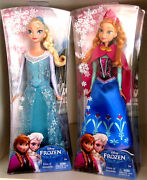 New Disney Frozen Sparkle Elsa And Anna Of Arendelle Doll 12 Tall