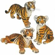 Katlot The Grande-scale Wildlife Collection Set Of Three Bengal Tiger Cubs
