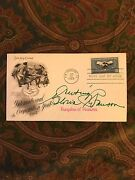 Gloria Swanson Signed 6.5 X 3.5 Signed Fdc First Day Cover June 26, 1965
