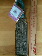 New Cynthia Webb Pewter Cottage Wall Plaque Diameter 2 X 6.25 - Discontinued