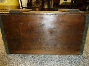 Hagerstown Maryland Brewing Company Pre Pro Vintage Rare Shipping Crate Wood Bo