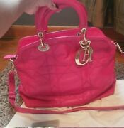 100 Authentic Dior Granville Bag In Hot Pink Genuine Leather