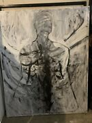 Original Painting On Canvas Abstract By Chris Butler Large Angel