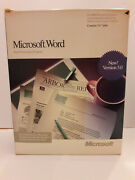 Vintage Microsoft Word Version 5.0 Complete Software, Box And Manuals From 1988