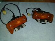 Pair Of 1964 Pontiac Gto Front Turnsignals - Very Nice Housings And Lenses