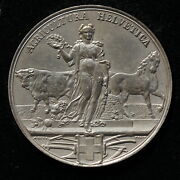 Switzerlanduniface Medal Agricultura Helvetica C.1880 By A. Bovy