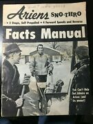 1965 Ariens Sno-thro Facts Manual, 2 Stage, Self Propelled Snowblower