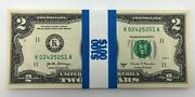 Uncirculated Two Dollar Bills - Series 2017a 2 Sequential Notes Lot Of 50