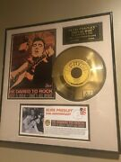 Andnbspelvis Presley 1954 24k Sun Gold Plated Framed Matted Record Thatand039s All Rightandnbsp