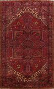 Vegetable Dye Semi Antique Geometric Traditional Area Rug Wool Hand-knotted 9x12
