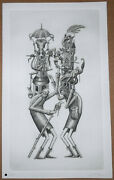 Phlegm Customary Hats Engraving Print Signed /275 Etching Poster Street Mural