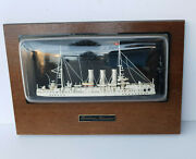 Ussr Aurora Cruiser Vintage Model Wall Hanging Decor 1970and039s Rare