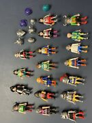 Playmobil Huge Lot Of Medieval Knights 18 Figures Weapons And Shields
