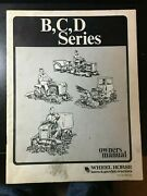 Wheel Horse Bcd Lawn And Garden Tractor Owners Manual B C Series D160d200
