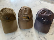 Fly Fishing Location Hats Lot Of 3 Pine Creek Valley And Blue Ribbon Flies