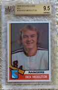 1974 Opc O-pee-chee Rick Middleton Rc Rookie Bvg Bgs 9.5 Bruins Rangers 304