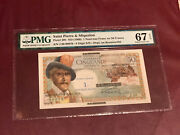 French Saint Pierre And Miquelon 50 Franc Overprint 1 Nf 1960 P 30b Pmg 67 Gem Unc