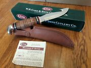 Case Xx Fixed Blade Leather Handle Gut Hook Knife 375-4g Ss