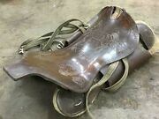 Antique Old Rare Handmade I Love Cowgirl Western Horse Leather Saddles U.s.a