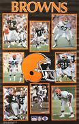 Vintage 1989 Cleveland Browns 34 X 22 Nfl Starline Poster Kosar And Others Rare