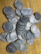 1930andrsquos P D S Buffalo Nickels All Vf / Xf Roll Forty Good Mix Of Dates 5c Coins