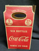 Antique Coca Cola Cardboard 6 Pack Carrier Cica 1930's Gairco Canada Limited