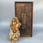 Chinese Shoushan Stone Carving Guanyin Statue With Base